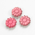 Glass Flat Back Foiled Mirror - Daisy 10MM MATTE ROSE