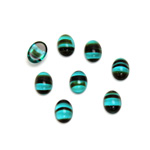 Glass Medium Dome Cabochon - Oval 07x5MM BLUE TORTOISE