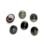 Glass Medium Dome Cabochon - Oval 10x8MM PEARL GREY SPINEL