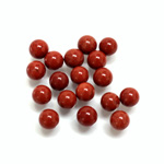 Gemstone No-Hole Ball - 06MM RED JASPER