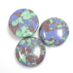 Synthetic Cabochon - Round 18MM Matrix SX11 GREEN-BLUE-BROWN