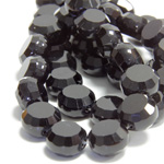 Chinese Cut Crystal Bead - Round Disc Side Drilled 08MM JET