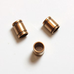 Brass Machine Made Bead - Fancy Tube 05.5MM RAW BRASS