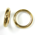 Brass Bead Frames - Rings Side Drilled 2-Holes 14MM
