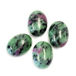 Gemstone Cabochon - Oval 16x12MM ZOISITE RUBY