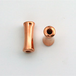 Metalized Plastic Bead - Hourglass Tube 16x7MM COPPER