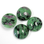 Gemstone Cabochon - Round 15MM ZOISITE RUBY
