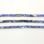 Gemstone Bead - Rectangle Smooth 13x4MM SODALITE