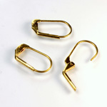 Brass Earwire 17MM Leverback Plain with no Loop