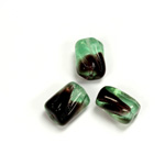 Czech Pressed Glass Bead - 2-Color Smooth Twisted 12x9MM PERIDOT-AMETHYST