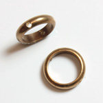 Brass Bead Frames - Rings Side Drilled 2-Holes 11MM