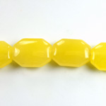 Gemstone Bead - Round Cushion Octagon 19x14MM Dyed QUARTZ Col. 08 YELLOW