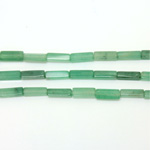 Gemstone Bead - Rectangle Smooth 13x4MM AVENTURINE-GREEN