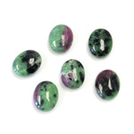 Gemstone Cabochon - Oval 10x8MM ZOISITE RUBY