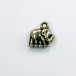 Metalized Plastic Pendant- Elephant 13MM ANT SILVER