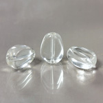 Glass Bead TablePolished -  Pear 11x8MM CRYSTAL