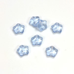 Czech Pressed Glass Bead - Star 08MM LT SAPPHIRE