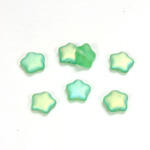 Czech Pressed Glass Bead - Star 08MM MATTE PERIDOT AB