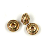Brass Bead Lead Safe Machine Made - Beehive Round 04x6MM RAW BRASS