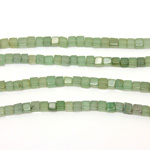 Gemstone Bead - Cube Smooth 04x4MM AVENTURINE-GREEN