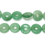 Gemstone Bead - Donut Side Drilled 20MM AVENTURINE-GREEN