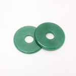 Gemstone Bead - Donut Round Smooth 35MM AVENTURINE-GREEN