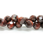 Gemstone Bead - Faceted Round 10MM TIGEREYE RED