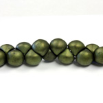 Czech Pressed Glass Bead - Mushroom 09x8MM 84495-JET