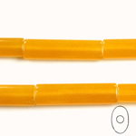 Gemstone Bead - Oval Cylinder 30x8MM Dyed QUARTZ Col. 38 AMBER