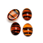 Glass Medium Dome Cabochon - Oval 14x10MM TORTOISE
