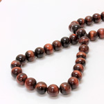 Gemstone Bead - Smooth Round 10MM TIGEREYE RED