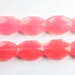 Gemstone Bead - Faceted Octagon 18x13MM Dyed QUARTZ Col. 27 ROSE