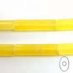 Gemstone Bead - Oval Cylinder 30x8MM Dyed QUARTZ Col. 08 YELLOW