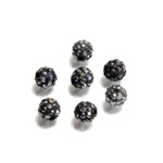 Rhinestone Bead Pave with 1.0MM Hole Metal Base Round 06MM HEMATITE