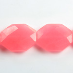 Gemstone Bead - Faceted Octagon 25x20MM Dyed QUARTZ Col. 98 SALMON