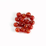 Gemstone Bead - Smooth Round 2.5MM Diameter Hole 06MM CORNELIAN