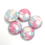 Synthetic Cabochon - Round 13MM Matrix SX06 PINK-BLUE-WHITE
