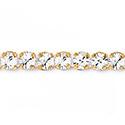Rhinestone Banding with MAXIMA Chaton 1 Row -  Round 12SS CRYSTAL-GOLD