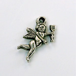 Metalized Plastic Pendant- Cupid 24x15MM ANT SILVER