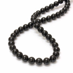 Gemstone Bead - Smooth Round 08MM BLACK ONYX
