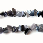 Fiber Optic Synthetic Cat's Eye Bead - Baroque Chip CAT'S EYE GREY