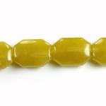 Gemstone Bead - Round Cushion Octagon 19x14MM Dyed QUARTZ Col. 41 OLIVE