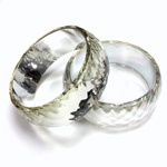 Acrylic Bangle - Faceted Domed 26MM wide FOILED CRYSTAL