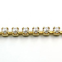 Czech Pearl Cup Chain PP18 WHITE PEARL-BRASS