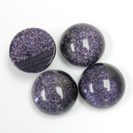 Man-made Cabochon - Round 15MM BLUE GOLDSTONE