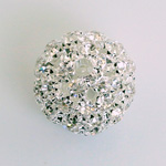 Rhinestone Ball 20MM CRYSTAL-SILVER