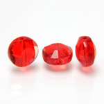 Chinese Cut Crystal Bead - Round Disc Side Drilled 08MM LT SIAM RUBY