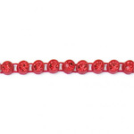 Plastic Rhinestone Banding 1 Row PP17 (SS8) LIGHT SIAM RUBY-FLAME