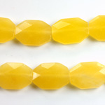 Gemstone Bead - Faceted Octagon 18x13MM Dyed QUARTZ Col. 08 YELLOW