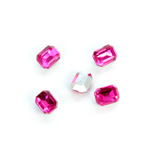 Plastic Point Back Foiled Stone - Cushion Octagon 08x6MM ROSE